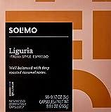 Amazon Brand - 50 Ct. Solimo Espresso Pods, Liguria, Nespresso OriginalLine Compatible Capsules