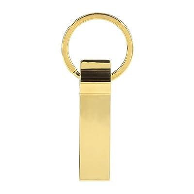 Pulgar U disco, fcostume® Golden Metal llavero USB 2.0Flash Memory Stick Almacenamiento 2 GB