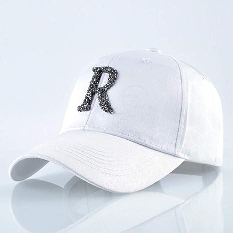 TRGFB Casual Letters R Gorra de béisbol Mujer Diamond Snapback ...