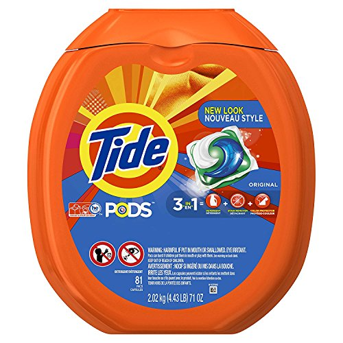 Tide PODS 3 in 1 HE Turbo Laundry Detergent Pacs, Original Scent, 81 Count Tub - Pack of 3 (Tide Laundry Detergent Baby)
