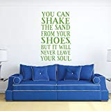 Beach House Decor - You Can Shake The Sand From Your Shoes - Wall Decals for Home Decor, Bedroom Or Playroom - Surfer Gift