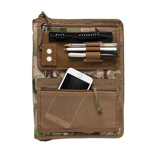 Tactical Admin Notebook Cover System with Map Case/Customize with Add-Ons!