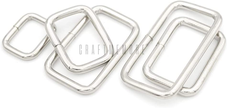 40mm Rectangle Rings for Bag Making and Crafting 25pce