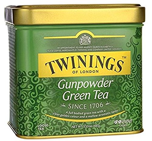 Twinings of London Loose Gunpowder Green Tea, 3.53 Ounce (100g Loose Tea Tin)