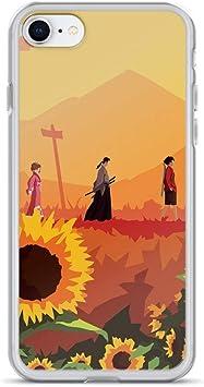 Merasri Coque pour iPhone 6 Plus/6s Plus Samurai Champloo Jin Mugen Fuu Scenery Action Manga Pure Transparent iPhone 7/8