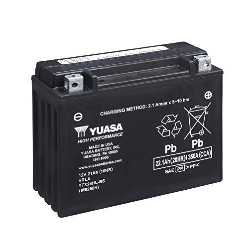 YUASA YTX24HL-BS-Batteria Combipack, elettroliti)