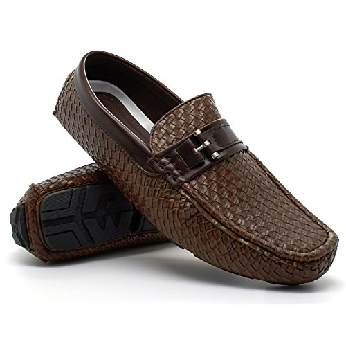 New Mens Slip On Casual Boat Deck Moccasin Designer Loafers Driving Shoes Size Brown fmaipIHko