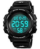 Kids Digital Watches for Boys - Waterproof Sports Watch with Alarm/Timer, Black Childrens Outdoor Electronic Sport Digital Watches for Teenages Boys Sold by UEOTO