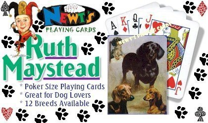 Dog Playing Cards Poker - Dachshund Dog Playing Cards by Ruth Maystead