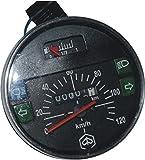 RS Vintage Parts RSV-B018FVKR7G-01412 Motorcycle Parts A88 Speedometer / Tacho Vespa LML PX Lusso 80, 125, 150, 200, 120Km/H/80 Mph Black