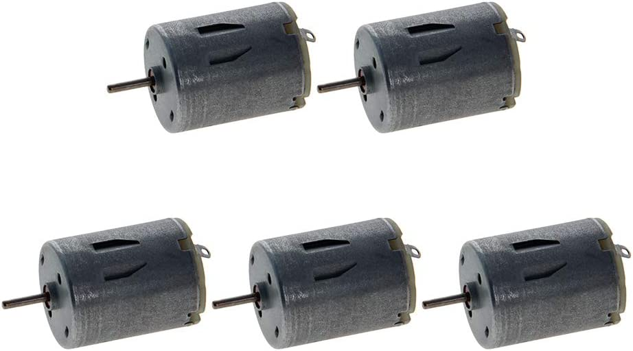 Fielect 5Pcs Electric Micro Motor for DIY Airplane Boat Model Toys Car Model Circular Shaft 0.01A 6V 7000-8000RPM
