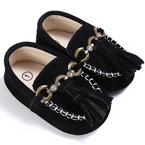 Bebé Zapatos, OverDose Bebé Zapatos De Cuna Linda Cuna Deslizamiento En Los Zapatos De Confort Mocasines Soft Prewalker Anti-Slip Zapatos Negro