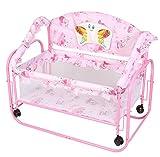 Tiffy & Toffee Baby Princess Cradle cum Bed (Pink)