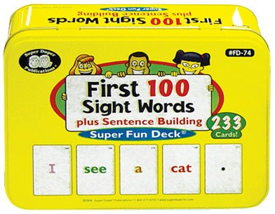 Super Duper Publications First 100 Sight Words Plus Sentence Building Fun Deck Flash Cards Educational Learning Resource for Children by Super Duper Publications