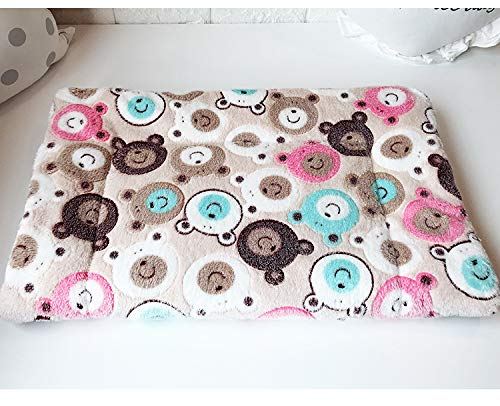Sunwod Premium Fluffy Flannel Dog Blanket Dog Bed, Cute Dog Cat Blankets with Bear Pattern for Kitten Puppy, Pet Throw Blanket for Small and Medium Animals