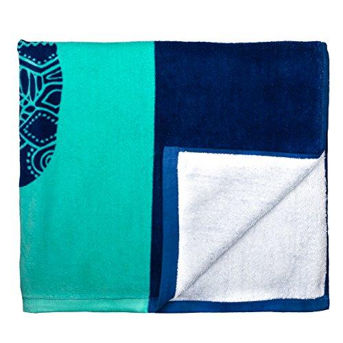 Nova Blue Turtle Beach Towel - top and bottom view