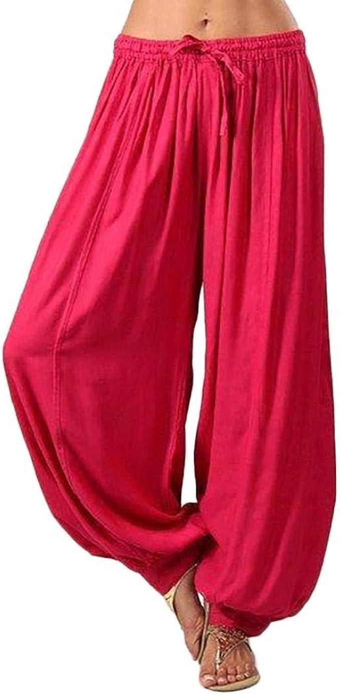 Muramba Clearance Women Plus Size Solid Loose Harem Yoga Pants