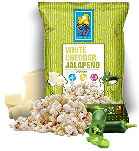 UPC 858563004085, Pop Art Snacks Popcorn White Cheddar Jalapeno, 1 oz, 24 Pack