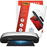 Fellowes Spectra 95 Home Office Craft Laminator with 100 Letter-Size 5mil ImageLast Jam Free Laminating Pouches