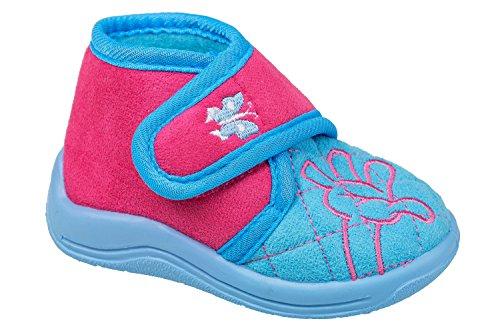 gibra - Zapatillas de estar por casa de tela para niño hellblau/pink