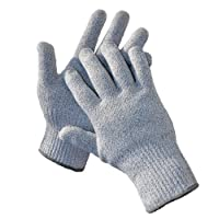 G & F 57100M CUTShield Classic nivel 5 guantes resistentes al corte para la cocina, guantes resistentes al corte de grado alimenticio, medio.