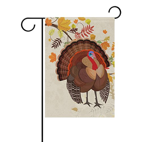 Naanle Happy Thanksgiving Turkey Day Double Sided Polyester