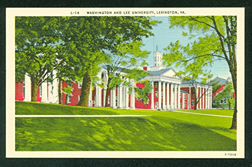 (Washington and Lee University Civil War General Virginia Postcard)
