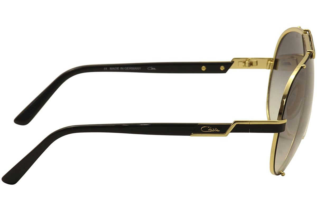 Cazal 909 Sunglasses 302SG Black-Gold / Grey Gradient Lens 70MM