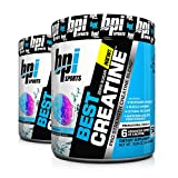 BPI Best Creatine to Increase Energy, Strength, and Muscle Mass, 50 Servings (2-Pack) (Snow Cone)
