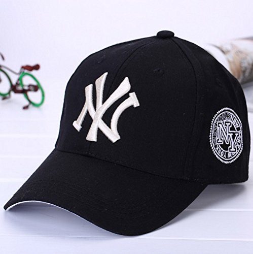 Adjustable Premium Baseball Cap (Baseball Cap For Men and Women - Cool Sporting Hat With Adjustable Velcro Backclosure - Sports Caps-Perfect For Running, Workouts and Outdoor Activities (Black))