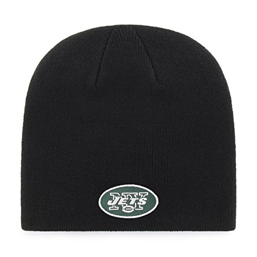 NFL New York Jets OTS Beanie Knit Cap, Black, One Size - New York Jets Knit Hat