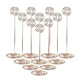 MagicFeel 10Pcs 8.6'' Tall Wire Number Clips Photo Picture Holders Desk Paper Memo Note Holder Stand Metal Dinning Table Card Holders Stands for Wedding Party