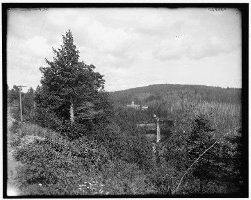 Photo: Kaaterskill Falls,Laurel House,hotels,resort,Catskill Mountains,New York,NY,1895