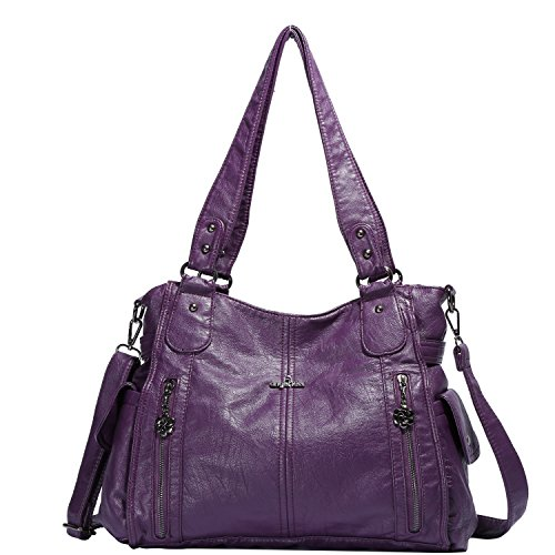 Angelkiss Large Purses and Handbags With Two Multi Pocket 1193 by Angel Kiss