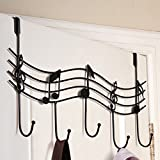 MuLuo Home Bathroom Kitchen Coat/Hat/Bag Metal Music Style Hook Hanger Organizer Iron black