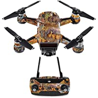 Skin for DJI Spark Mini Drone Combo - Deer Pattern| MightySkins Protective, Durable, and Unique Vinyl Decal wrap cover | Easy To Apply, Remove, and Change Styles | Made in the USA