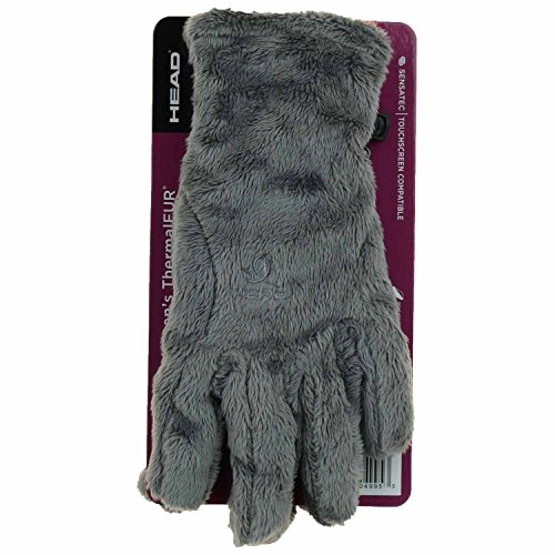 - HEAD Sensatec Touchscreen Digital ThermalFUR Gloves (Medium, Pache Grey)