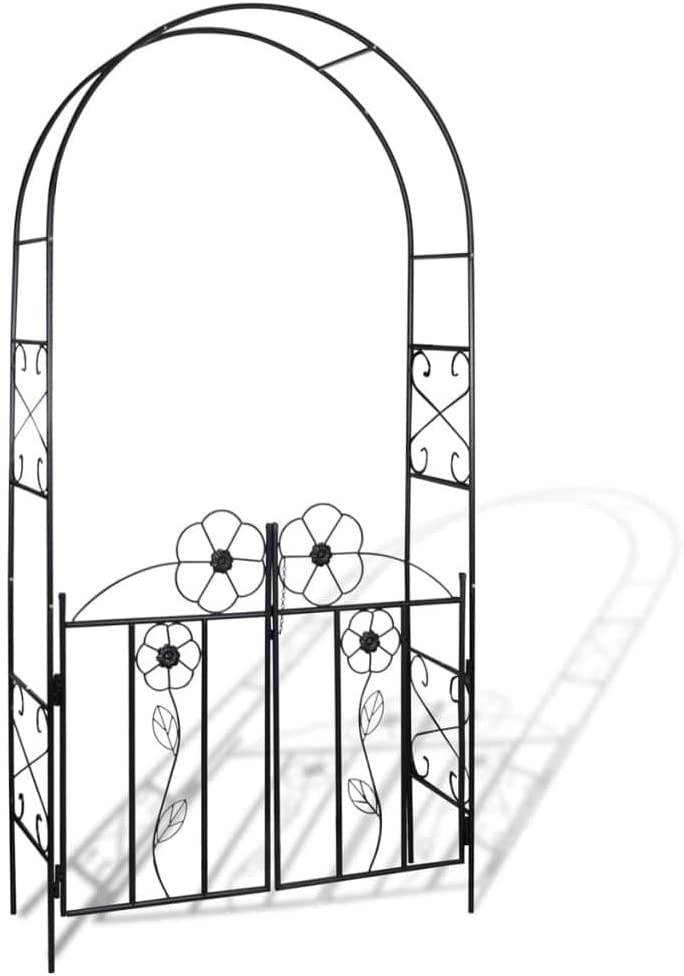 vidaXL Puerta de Arco de Jardín