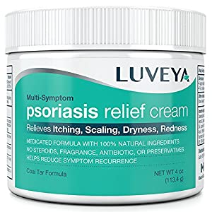 Advanced Psoriasis Treatment Cream Moisturizer. Instant Relief for Dry, Itchy, Cracked Skin Rash. Effective for Seborrheic Dermatitis Scalp. 100% Natural. Quicker absorption than lotion or ointment