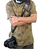 Nicama CS1 Rapid Action Camera Sling Strap with Quick Release Clip & Neoprene / Vintage Leather Shoulder Pad for Canon EOS, Nikon, Sony, Olympus, Pentax & Panasonic DSLR & Mirrorless Cameras