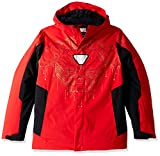 Spyder Boy's Marvel Ski Jacket, Red/Ironman, Large