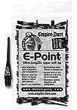 Empire Dart - Punte per freccette, passo 2BA lungo, confezione da 100 pezzi, colore: Nero