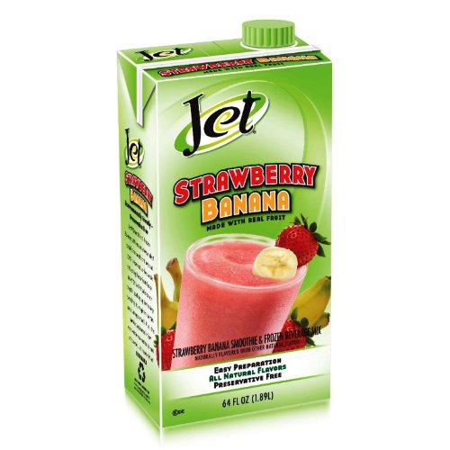 Jet Smoothie Mix, Strawberry Banana, 64-Ounce Boxes (Pack of 6)