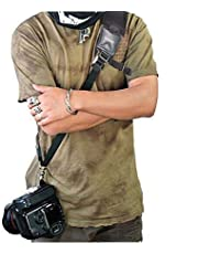 Nicama CS1 Rapid Action Camera Shoulder Neck Sling Strap with Quick Release Clip & Neoprene / Vintage Leather Shoulder Pad for Canon EOS Nikon Sony Olympus Pentax & Panasonic DSLR & Mirrorless Cameras