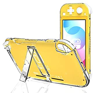 Clear Case for Nintendo Switch Lite with Kickstand, Hard Case for Nintendo Switch lite with Stand