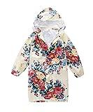 M2C Girls Hooded Waterproof Raincoat with Space for School Bag 7/8