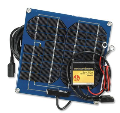 Solar Battery Charger and Solar Battery Pulser Combination Unit - 5 Watts by Larson Electronics