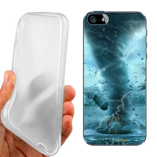 CUSTODIA COVER CASE TORNADO THUNDER PER IPHONE 5 5G 5S