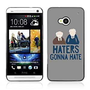Designer Depo Hard Protection Case for HTC One M7 / Haters gonna Hate