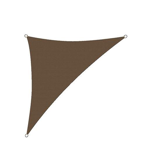 Alion Home HDPE UV Block Sun Shade Sail Permeable Canopy – Triangle – Custom 185GSM 8 x 8 x 11 , Mocha Brown